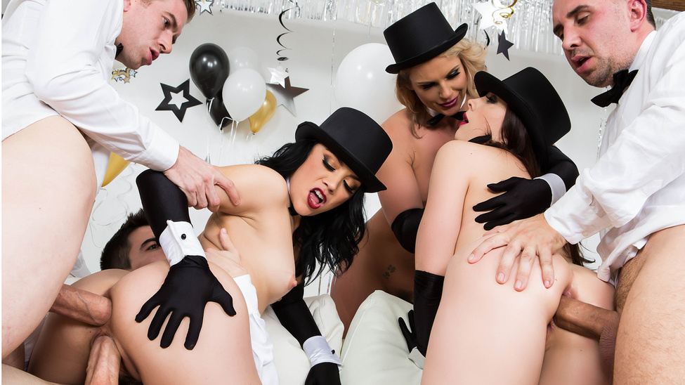 Brazzers New Years Eve Party – Kristina Rose, Phoenix Marie, Keiran Lee, Chanel Preston, Danny D & Jordi El Niño Polla