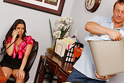 brazzers diamond kitty, acting dirty with the janitor