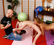Yoga photoshoot injected with meat - Madison Scott - Cindy Hope - 1
