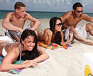 A Day Of Fun At The Beach - Asa Akira - Kerry Louise - 1