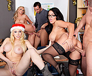 XXX-Mas Break - Sienna West - Kagney Linn Karter - Dylan Riley - 4