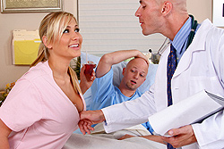 brazzers , nurse & doctor play while patient's away