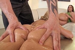 brazzers , hot ass oil party