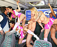 Chesty Cheerleaders Cheat On The Champs - Brooke Brand - Kortney Kane - Daisy Cruz - 5