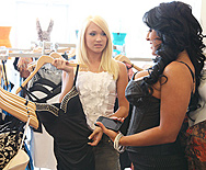 Aggressive Retail Dyke - Kiara Mia - Teagan Summers - 1
