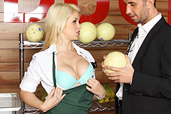 brazzers sarah vandella, only one way to save the store!