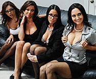 Office 4-Play - Ava Addams - Francesca Le - Vanilla Deville - Veronica Avluv - 1