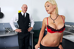 brazzers lexi swallow, lexi swallows the waiter