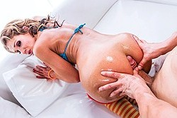 brazzers samantha silver, bronzed, oiled and spread