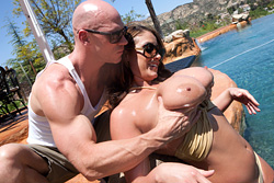 brazzers johnny sins, poolside pounding