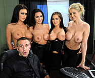 Office 4-play IV - Jenna Presley - Jessica Jaymes - Julia Ann - Kirsten Price - 1