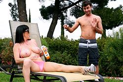 brazzers , backyard boobies