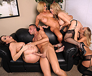 Office 4-Play: Christmas Edition! - Krissy Lynn - Tanya Tate - Chanel Preston - Nicole Aniston - 2
