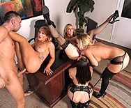 Office 4-Play: Christmas Edition! - Krissy Lynn - Tanya Tate - Chanel Preston - Nicole Aniston - 4