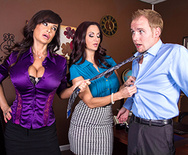 Ogling in the Office - Ava Addams - Lisa Ann - 1