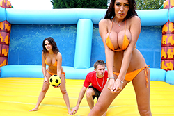 brazzers , naked volleyball!