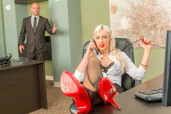 brazzers , chained to her desk