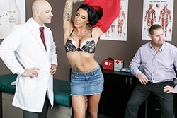 brazzers , creepy doc gives her the cock